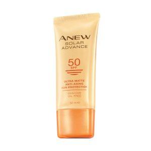أنيو سولر أدفانس كريم واقي من الشمس مقاوم لآثار تقدم العمر بتغطية ملونة. بعامل حماية من الشمس SPF50 20013 50ml